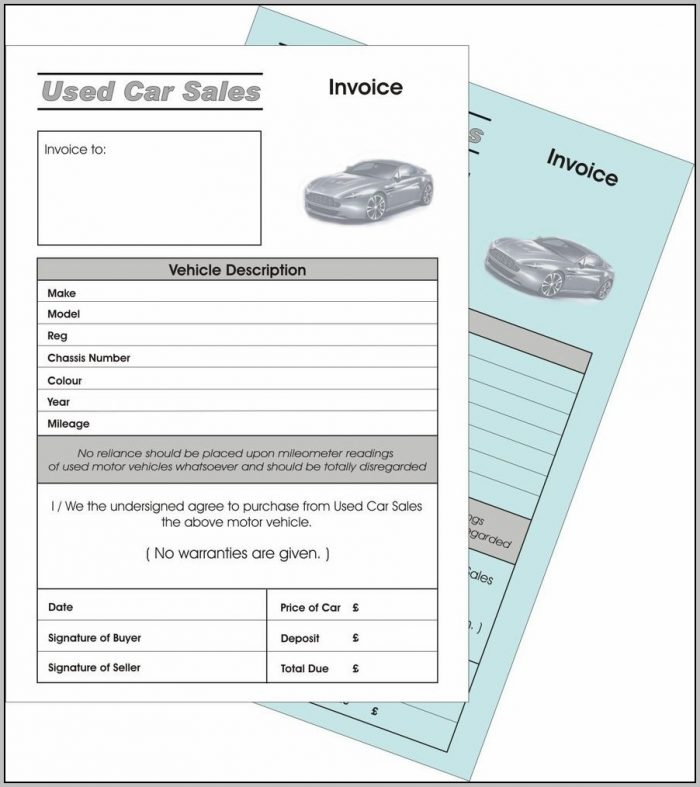 Proforma Invoice Template For Car Sale