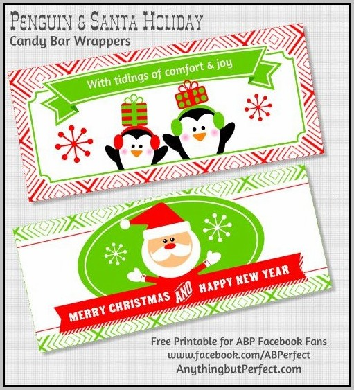 Snack Size Candy Bar Wrapper Template