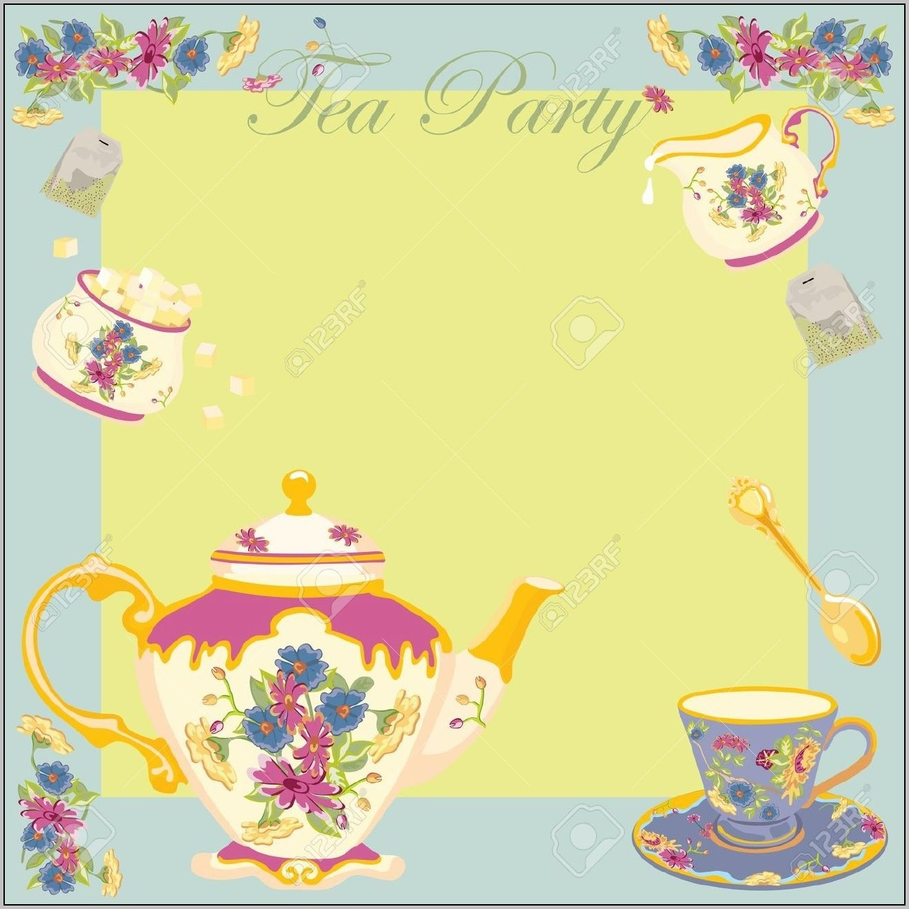 Vintage Tea Party Invitation Templates Free