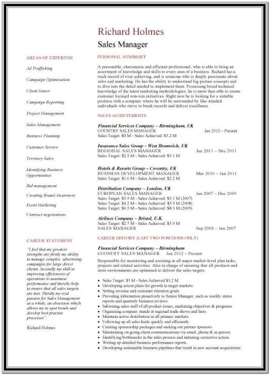 2 Page Resume Format Free Download