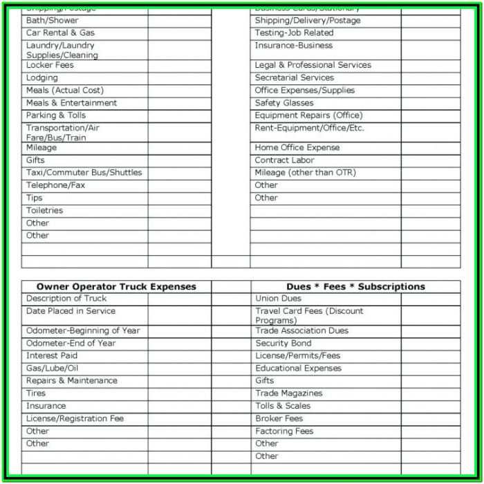 Excel Tax Organizer Worksheet