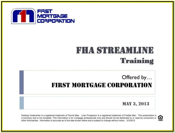 Fha Streamline Loan Amount Calculation Worksheet