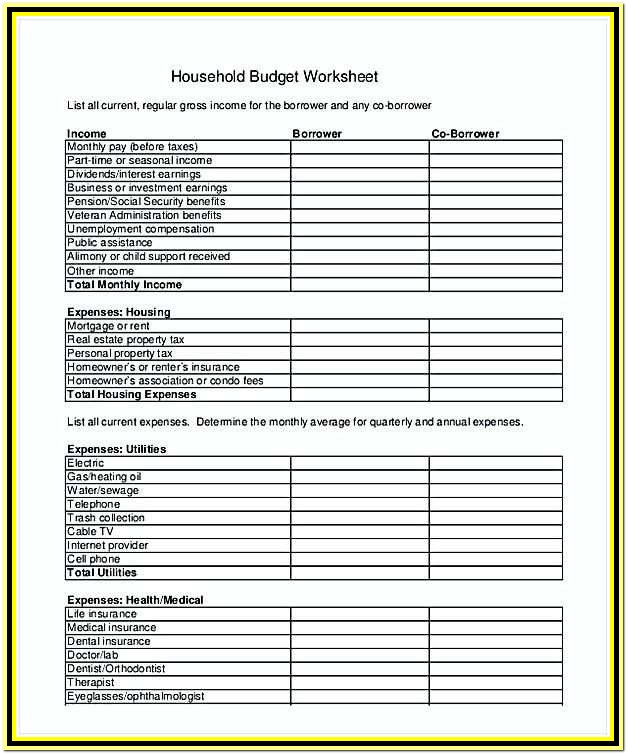 Mortgage Itemized Fee Worksheet Excel