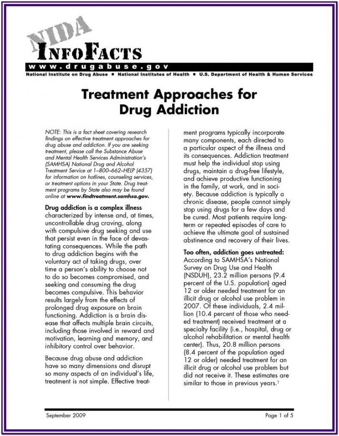 Stress And Substance Abuse Worksheets
