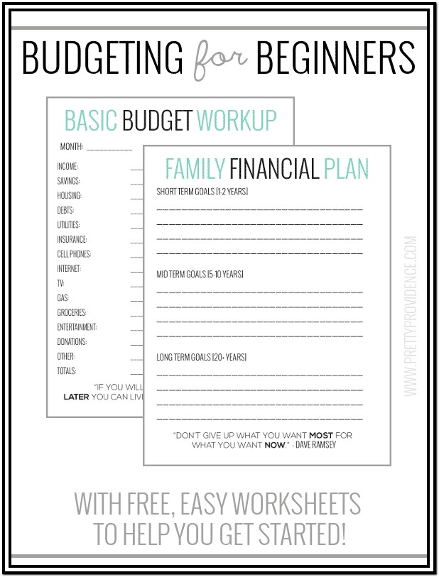 Budgets For Dummies Worksheets