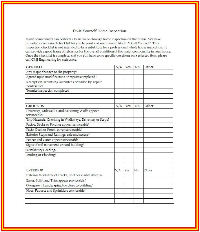 Home Inspection Checklist Ct