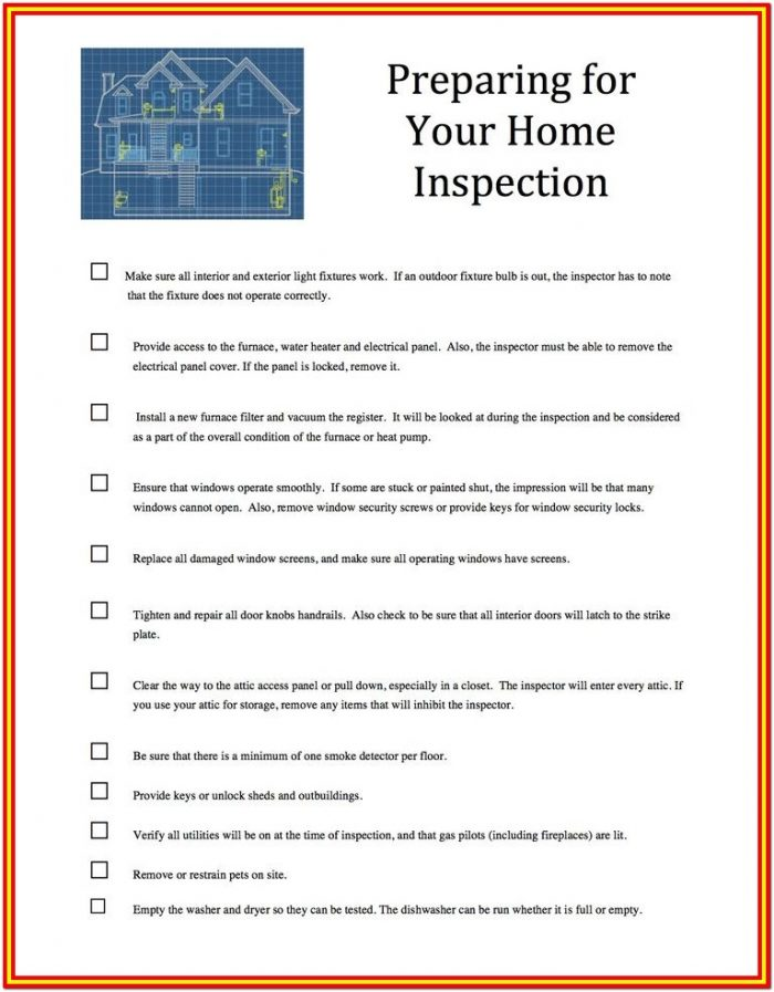 Home Inspection Checklist Ma
