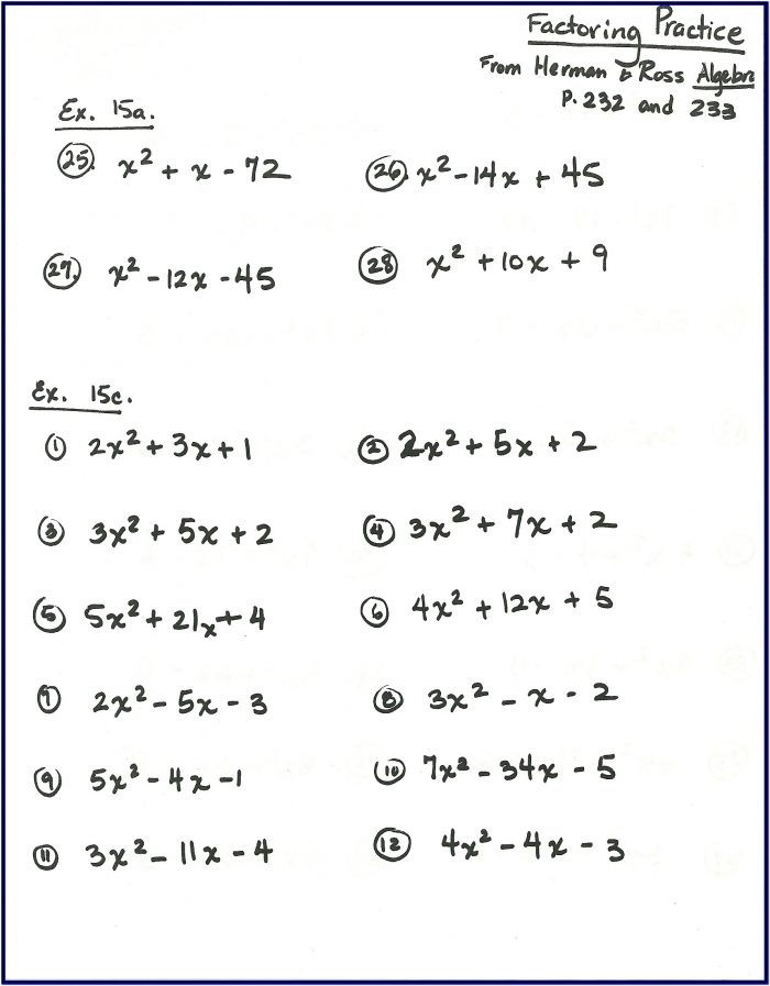 Printable Maths Worksheets For 14 Year Olds