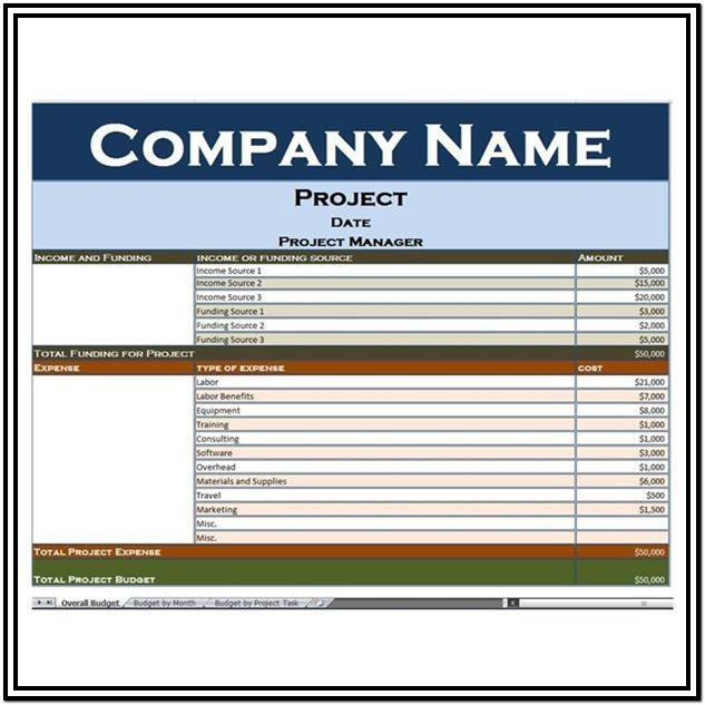 Project Expense Tracking Template Excel