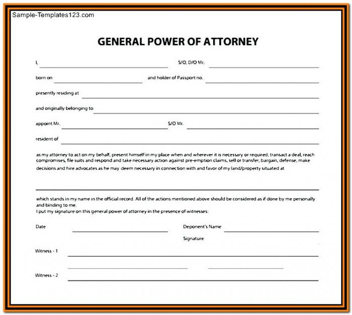 Durable Power Of Attorney Form Ny 2018