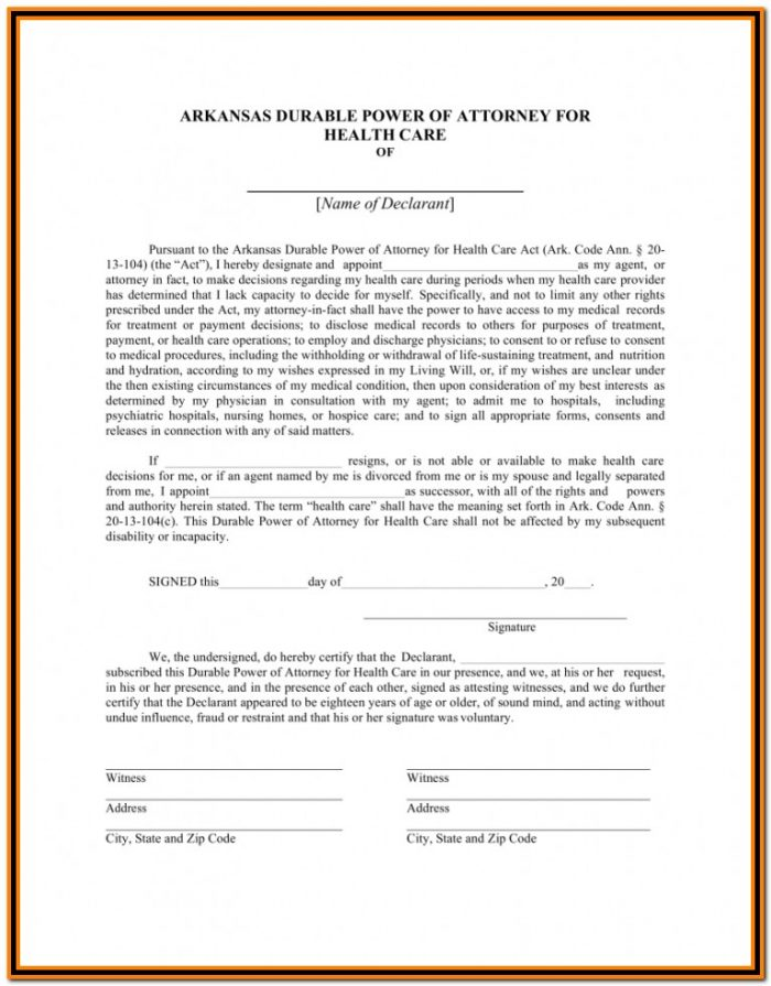Florida Durable Power Of Attorney Form 2017