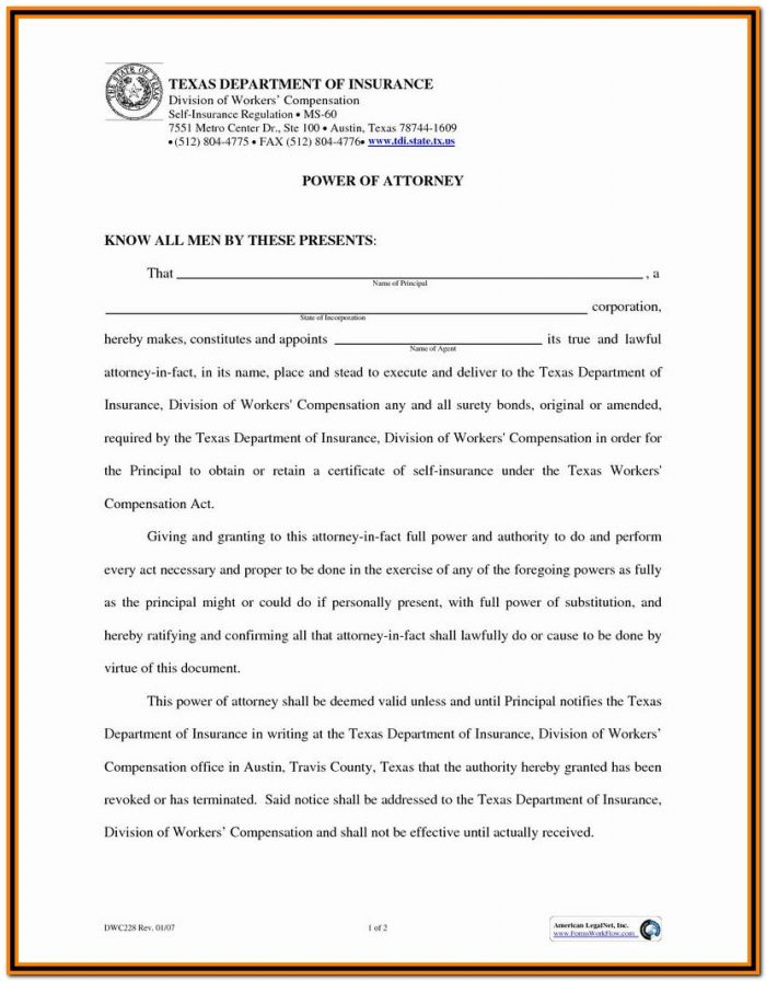 Florida Durable Power Of Attorney Form 2018