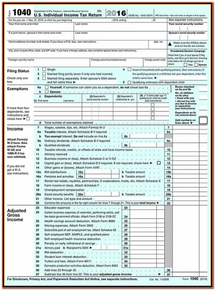 Irs Form 1040.gov