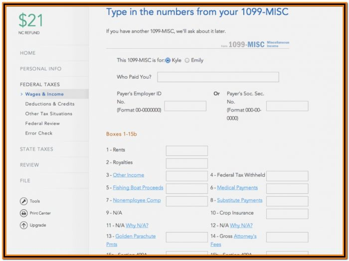 Irs Form 1099 Misc 2015