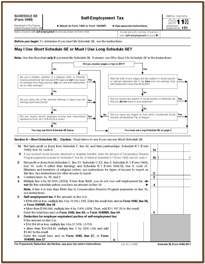 Irs Forms 1040 For 2011