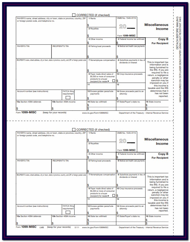 1099 Misc Form Instructions