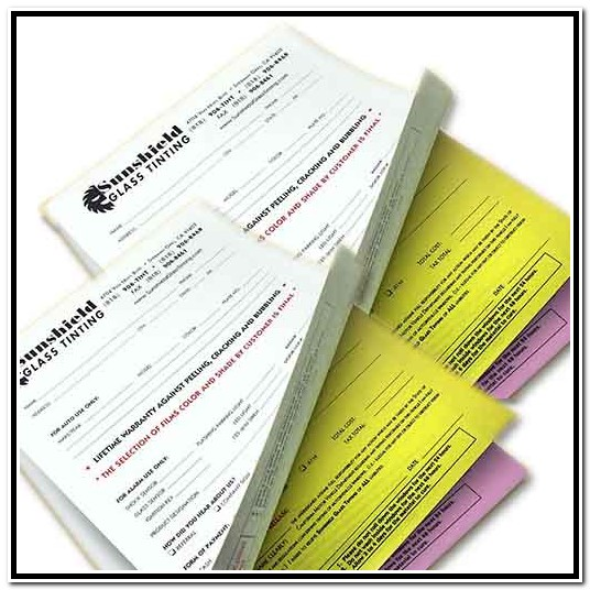 Custom Carbonless Paper Forms