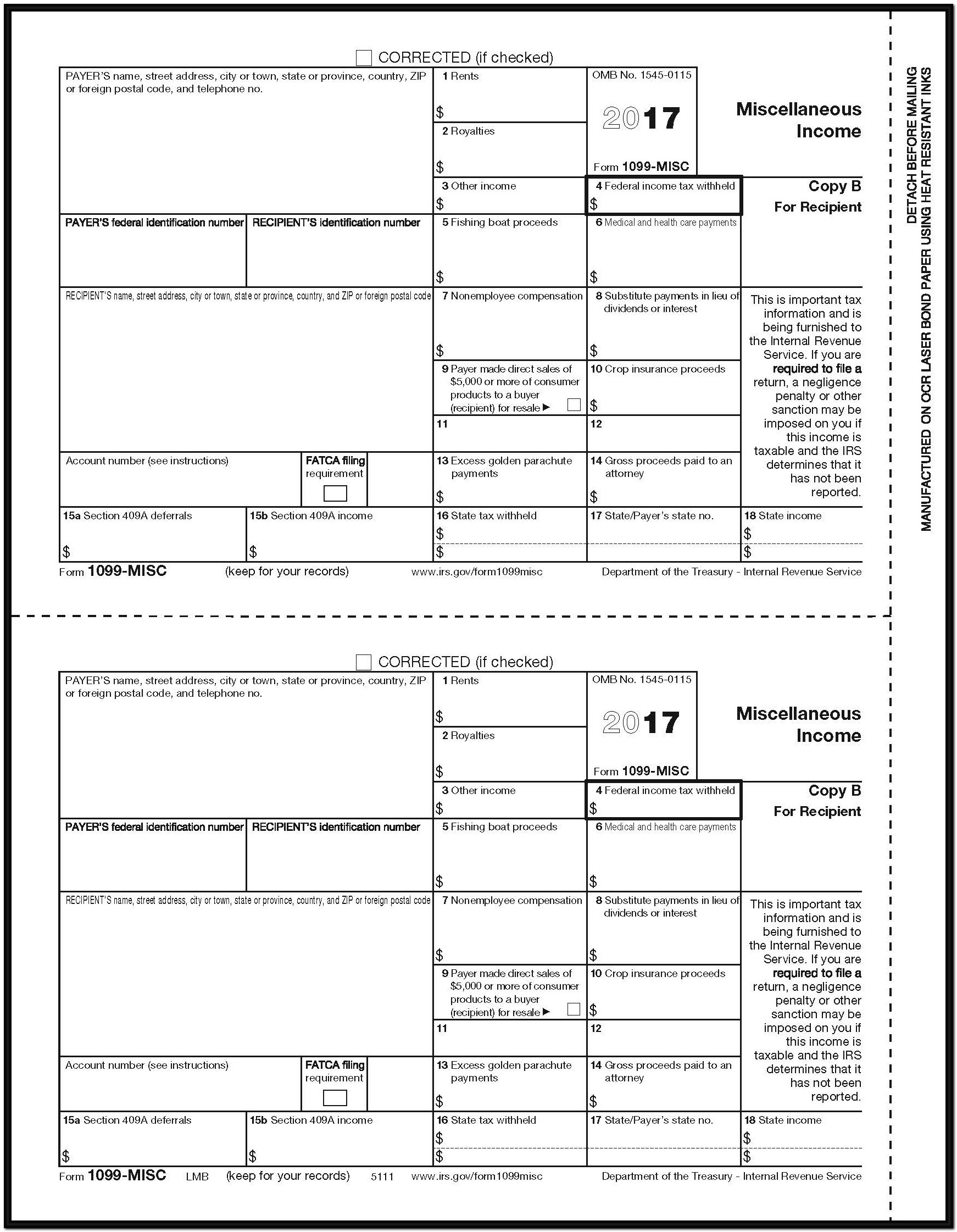 Form 1099 Misc 2017