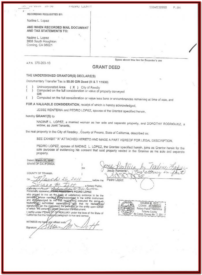Grant Deed Form Nevada