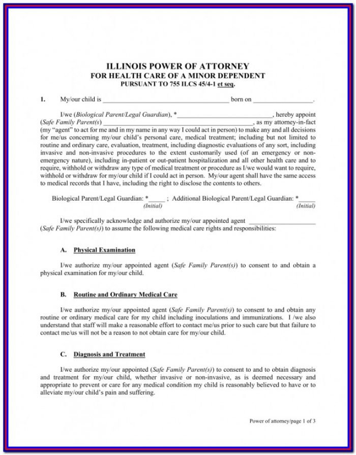 Health Care Power Of Attorney Form Michigan