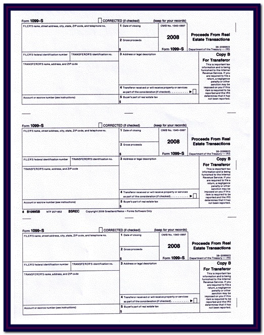 Irs Forms 1099 S