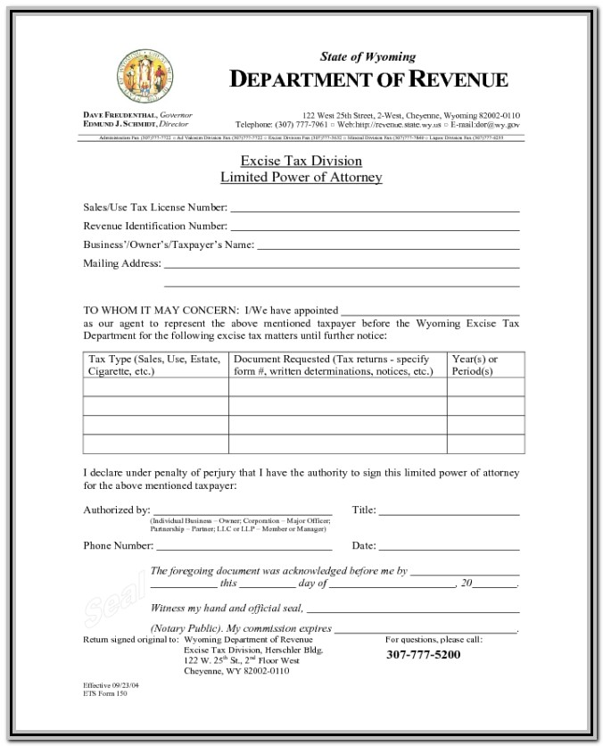 Limited Power Of Attorney Form Utah