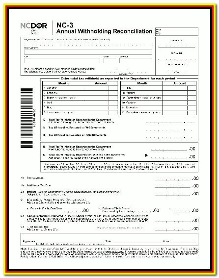 Nc 1099 Form Printable