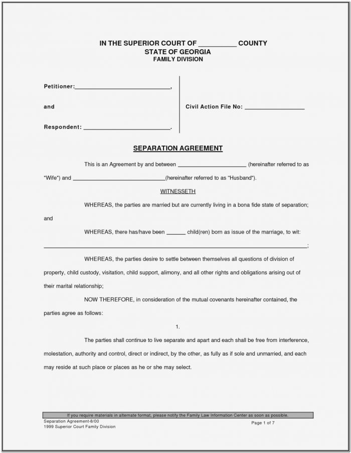 Nj Divorce Forms 1a