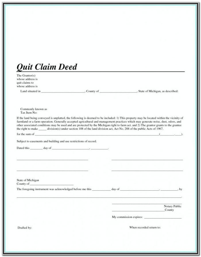 Quit Claim Deed Form California Alameda County