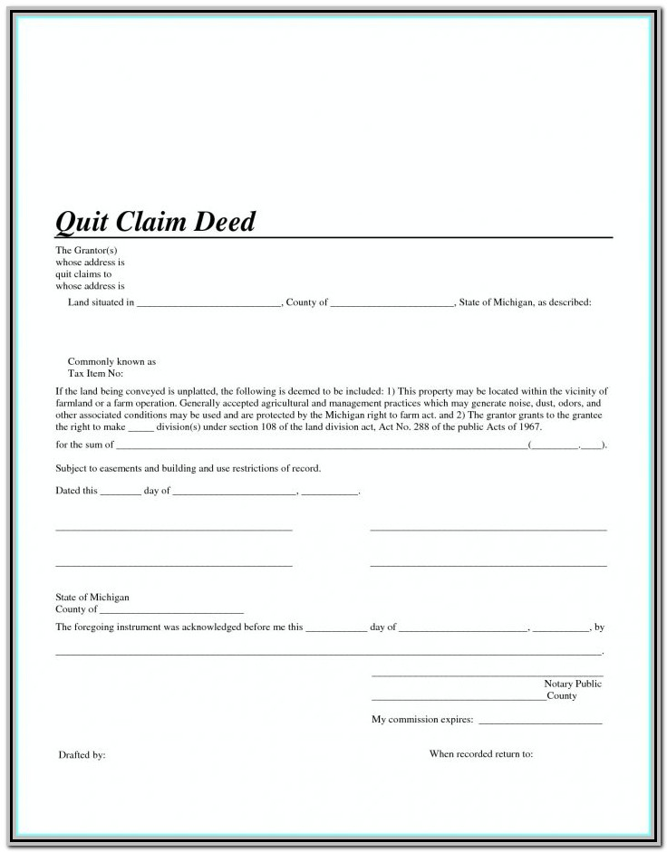 Quit Claim Deed Form California Los Angeles County
