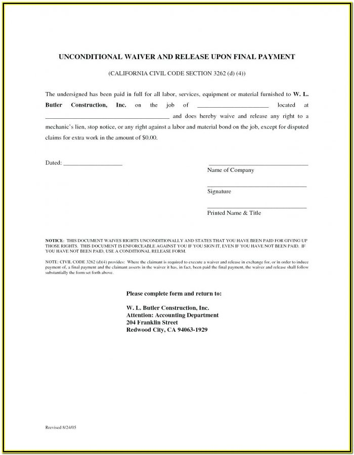 Texas Mechanic's Lien Affidavit Form