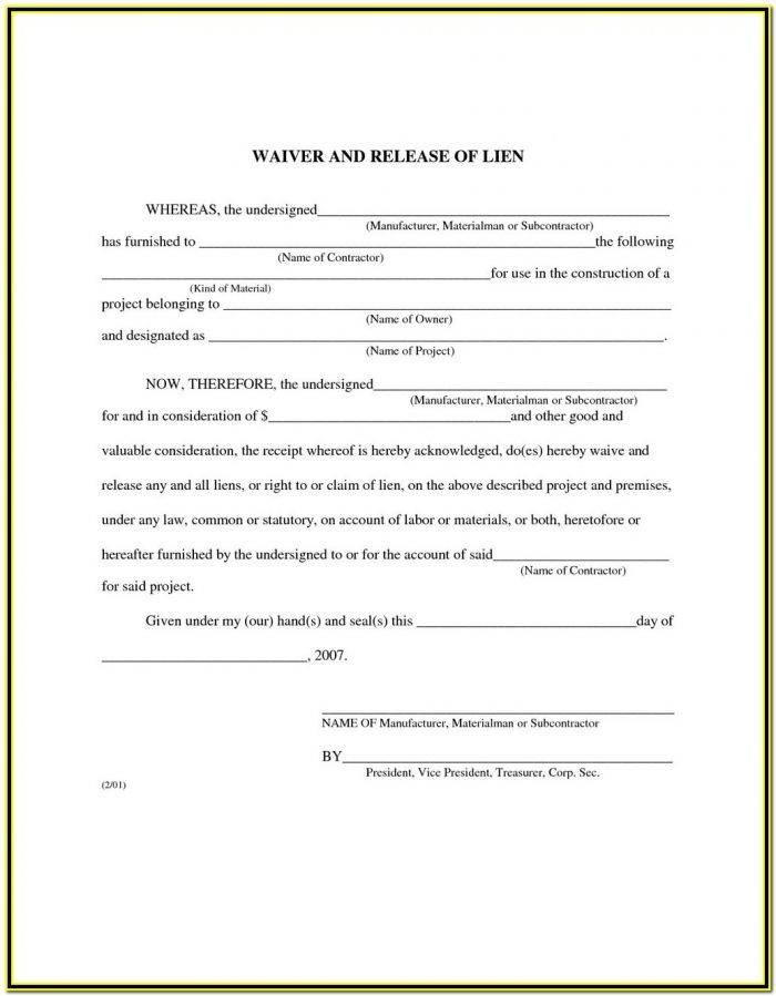 Texas Mechanics Lien Form Pdf
