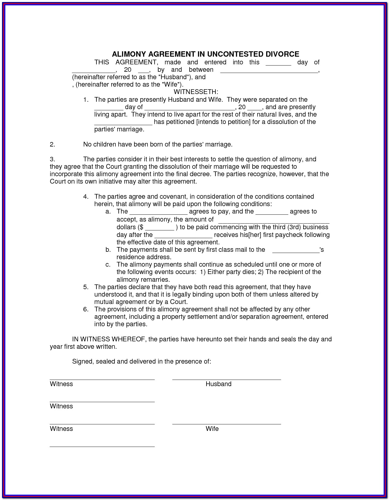 Uncontested Divorce Forms California