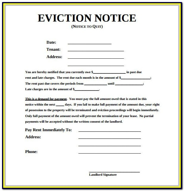 Eviction Notice Forms Alberta