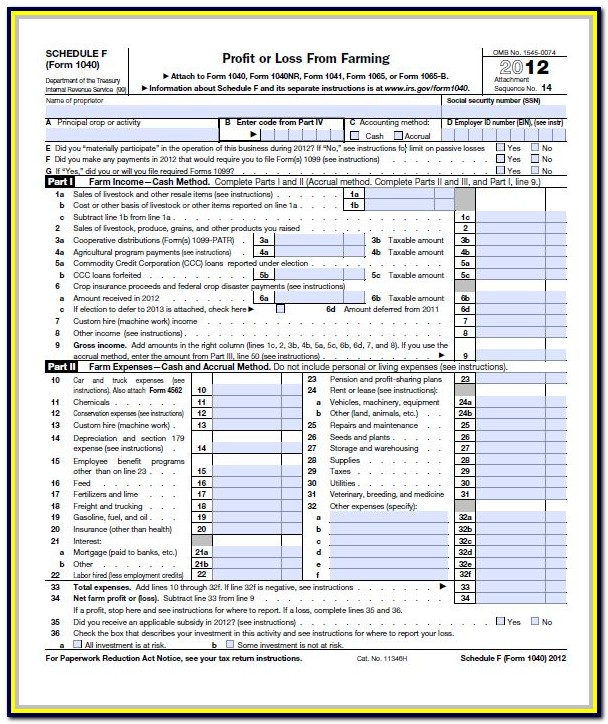 Federal Income Tax Form 1040 Schedule A