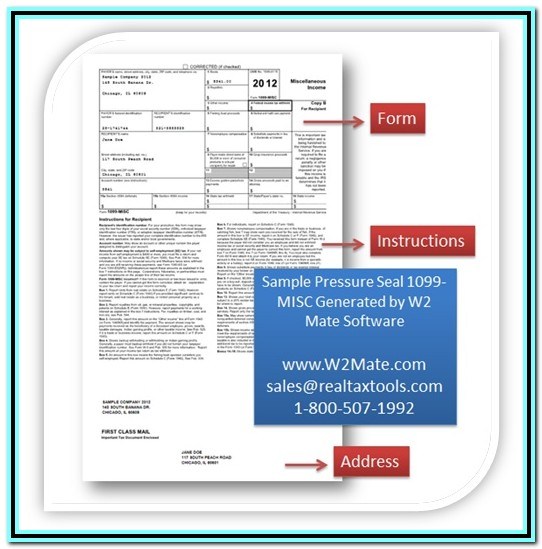 1099 Misc Tax Form Software