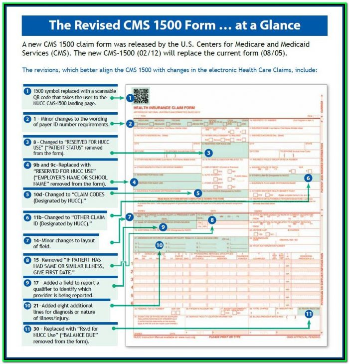 Cms 1500 Form Instructions
