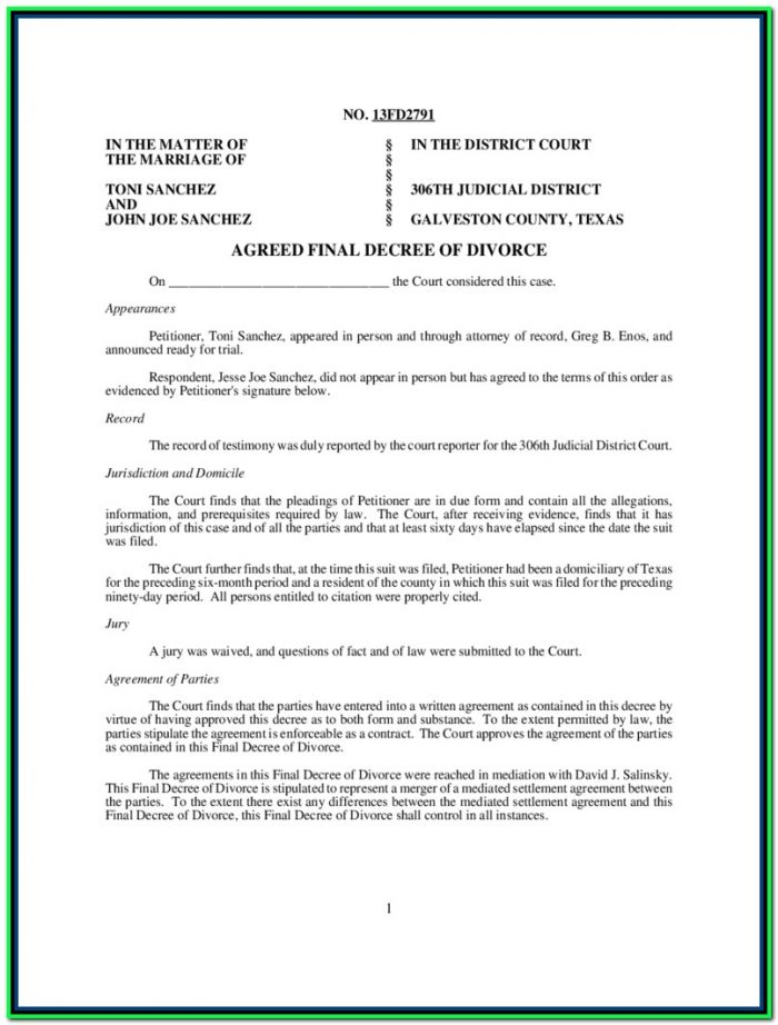 Divorce In Texas With Child Forms