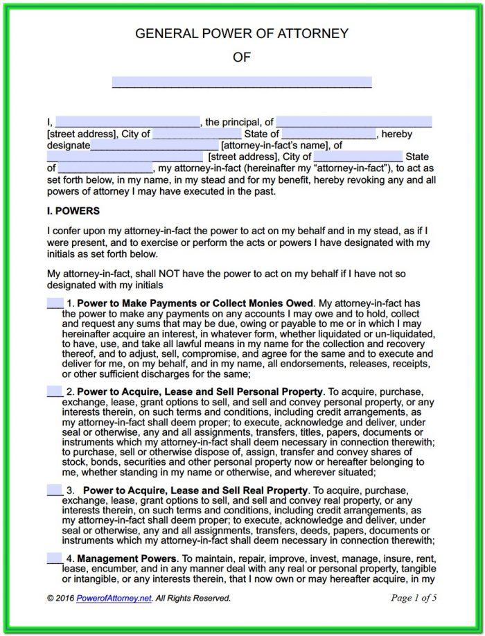 Free Fillable Durable Power Of Attorney Form California
