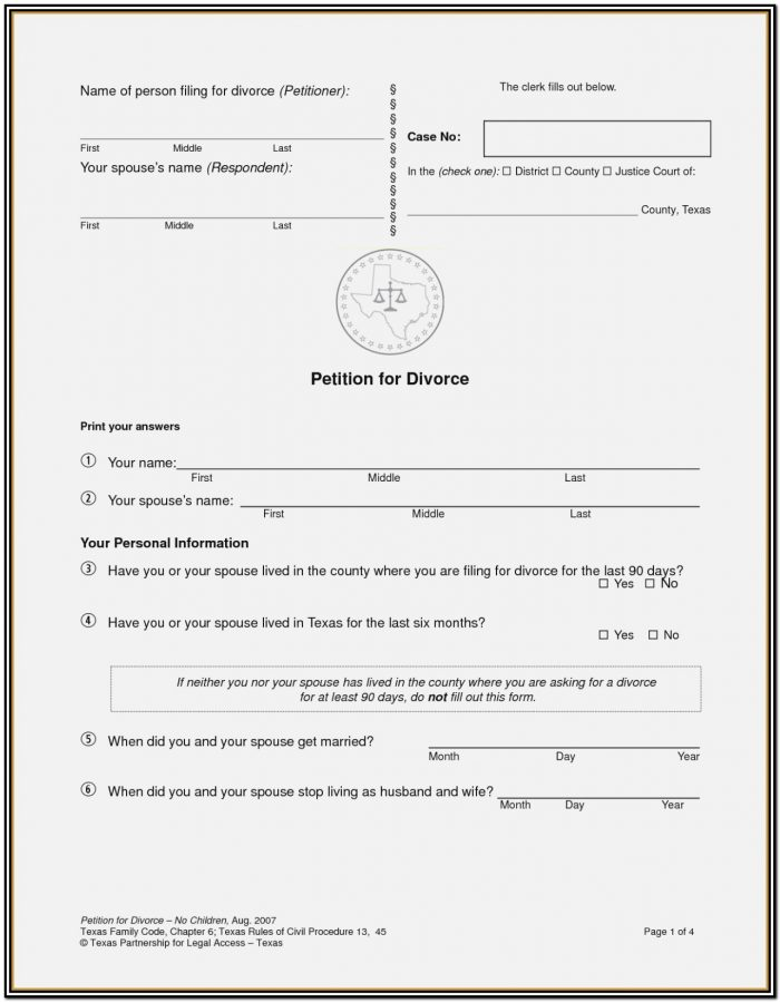 Fake Divorce Papers Pdf Worksheet To Print Fake Divorce Papers Throughout Illinois Divorce Forms