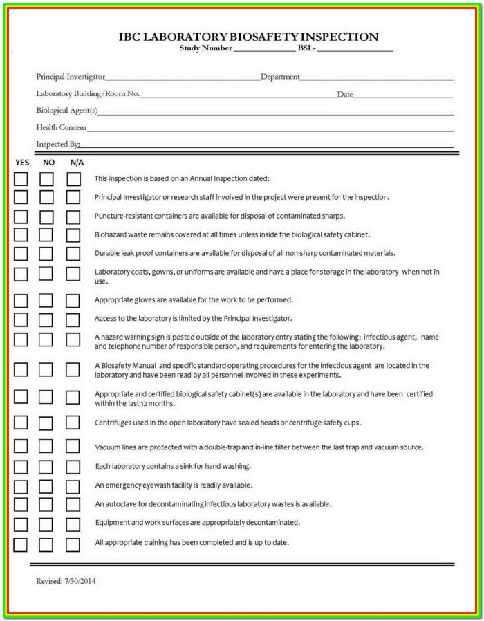 Ladder Inspection Form Example