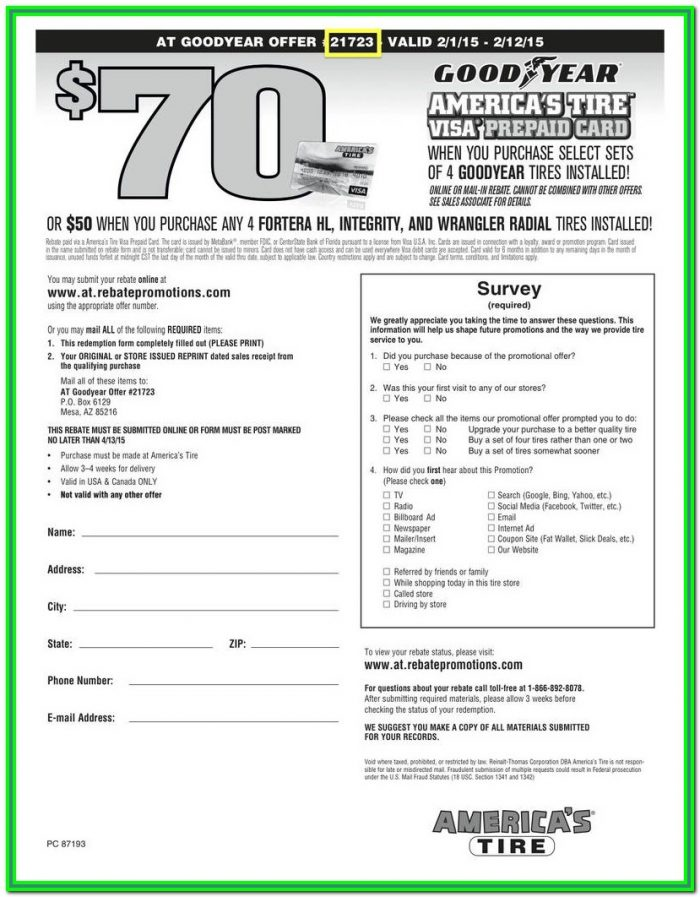 Michelin Rebate Form July 2019