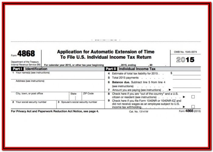 Pay Form 4868 Online