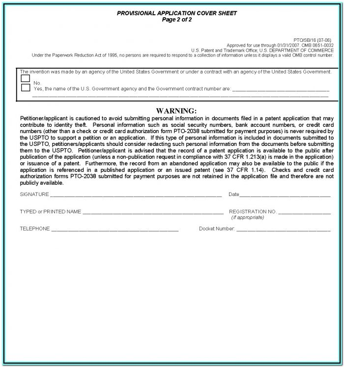 Provisional Patent Application Form Uk
