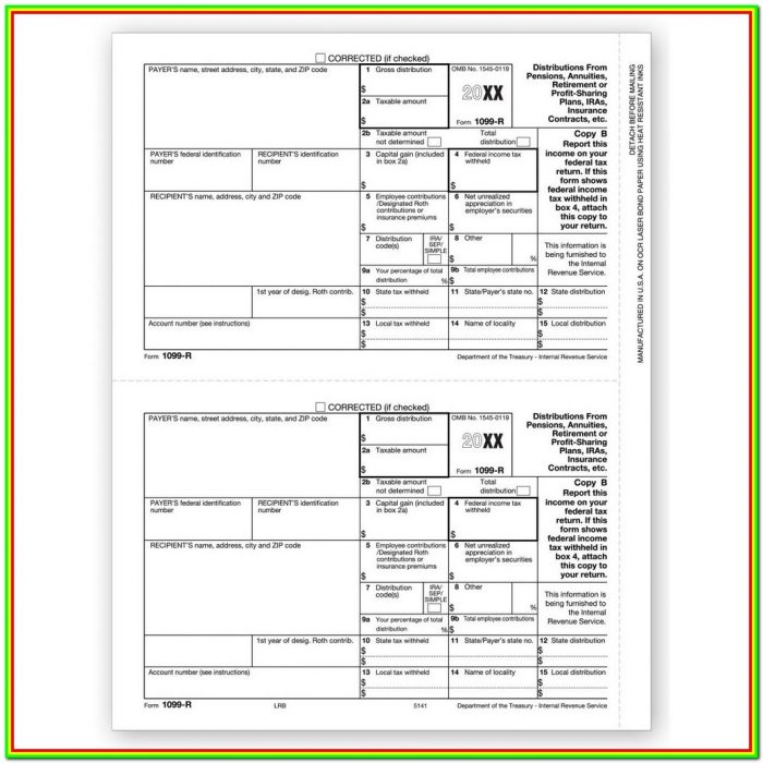 Tax Form 1099 R Distribution Codes