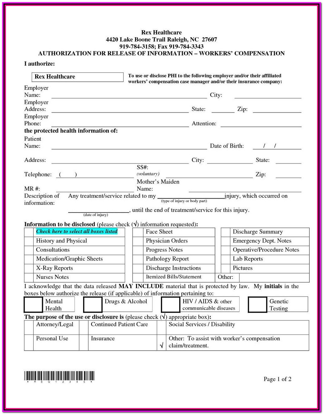 Workers Comp Waiver Form Arkansas