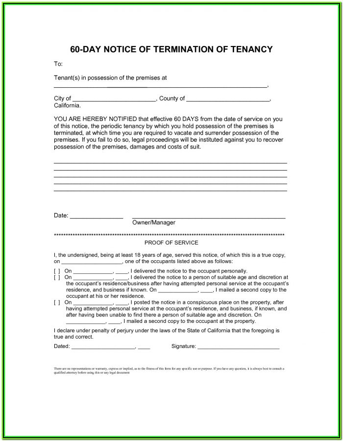 90 Day Eviction Notice California Form