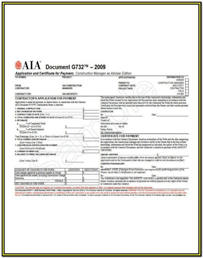 Aia Form G703 Free Download