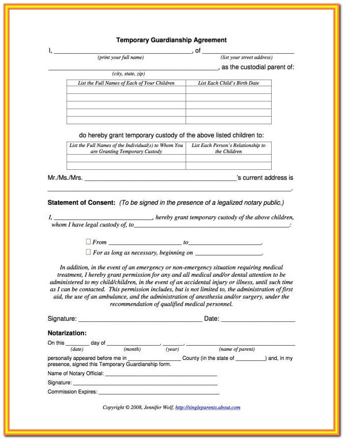 Child Guardianship Forms Florida