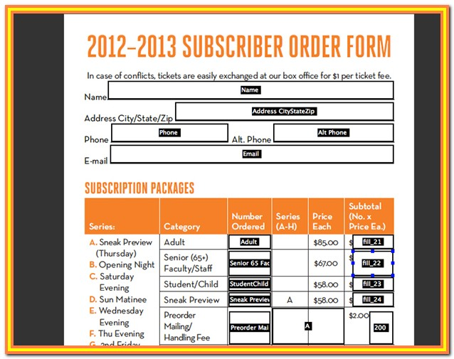 Fillable Form Pdf Indesign